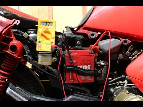 How to measure the voltage of a battery in bike||With multimeter||Perfect voltage.
