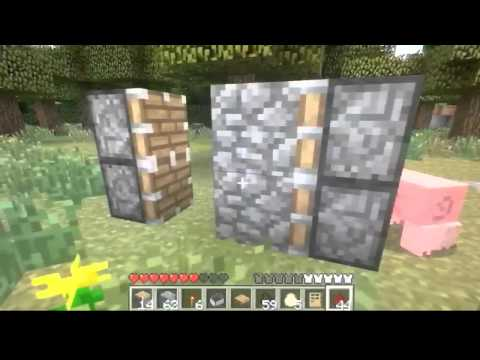 How to make a piston door without sticky pistons in minecraft Xbox 360 (simplified)