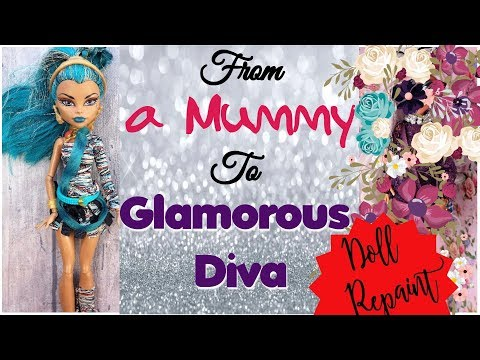 Monster High Doll Repaint   Glamourous Party Makeover How to customize BJD Easy  OOAK Custom Barbie