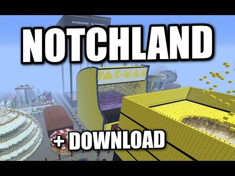 Minecraft PS3 - NOTCHLAND AMUSEMENT PARK - EPIC MAP DOWNLOAD + REVIEW ( PS4 / XBOX )
