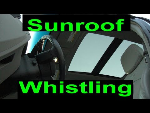 Cadillac CTS sunroof wind noise 2008-2013 panoramic moonroof whistling sound fix XTS