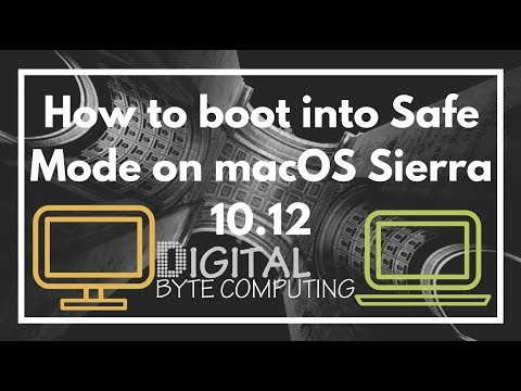 How to boot into Safe Mode on macOS Sierra 10.12  | VIDEO TUTORIAL