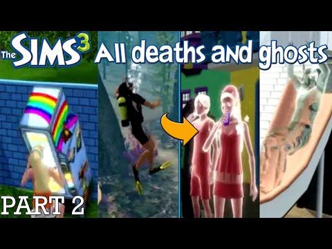 The Sims 3 All Deaths and Ghosts PART 2 (University Life and Island Paradise Deaths)