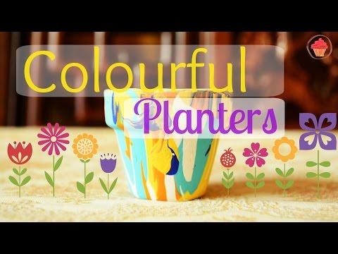 DIY: Colourful Planters / Pot