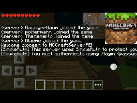 How you can register in Minecraft Pocket Edition Multiplayer server v.0.8.1 alpha