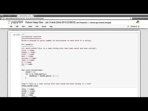 Python Training Demo: Count number of occurrence of each word in a string