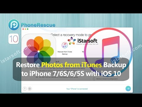 Restore Photos from iTunes Backup to iPhone 7/6S/6/5S with iOS 10