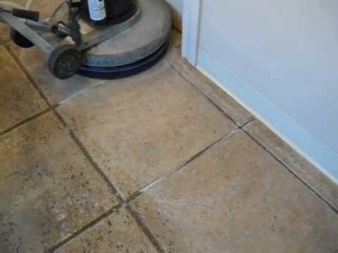 Floor Doctor acid wash on ceramic tile