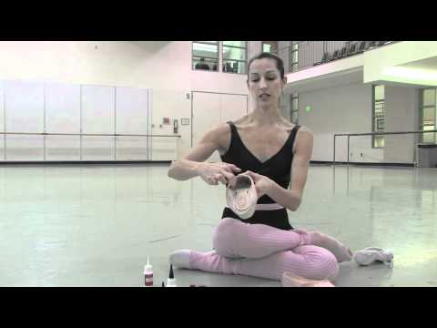 How to quickly strengthen pointe shoes with Hot Stuff instant glue at Pacific Northwest Ballet