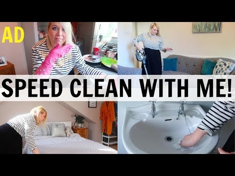 SPEED CLEAN WITH ME Power Half Hour! #AD