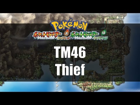 Pokemon Fire Red & Leaf Green | Where to find TM46 Thief