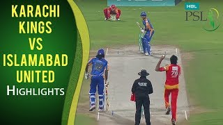 PSL 2017 Play-off 2: Islamabad United vs. Karachi Kings Highlights