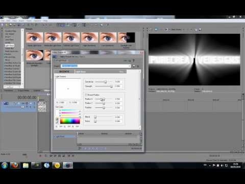 How to make a cool light rays effect intro with sony vegas pro 9/10