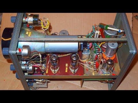 Tesla BM370 vacuum tube oscilloscope teardown and restoration