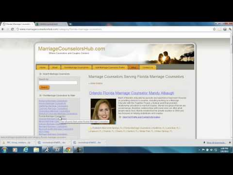 Selecting a Marriage Counselor by Ranking Profiles