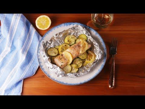 Lemon Butter Salmon Foil Packs | Delish