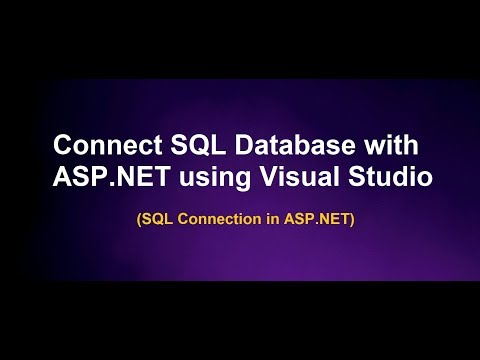 Connection With Database (SQL server database) In ASP.NET using Visual Studio