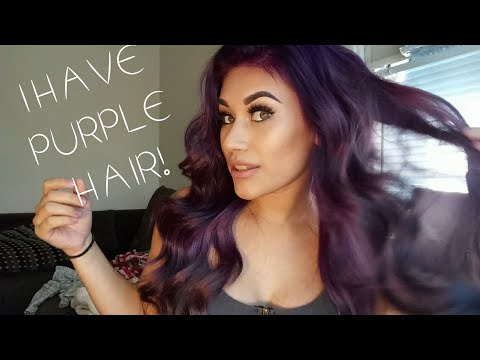 HOW TO GO DARK TO LIGHT HAIR | DYING MY HAIR PURPLE