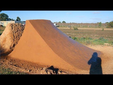 Rebuilding a Dirt Jump Landing Time-lapse
