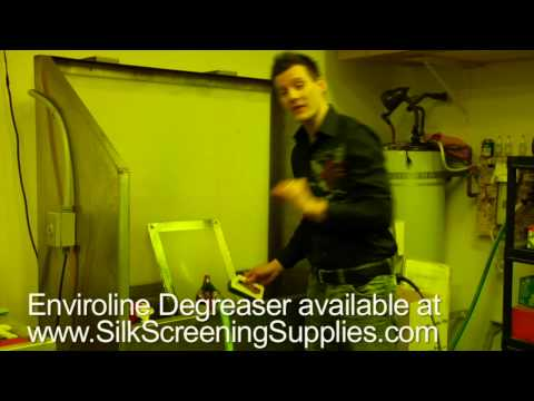 Screen printing with the Yudu, degreasing a screen with Enviroline