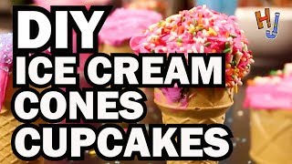 diy ice cream cone cupcakes hack job