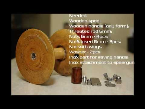 Wooden speargun reel