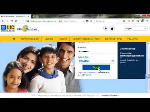 How to SignUp/SignIn LIC India Customer Portal