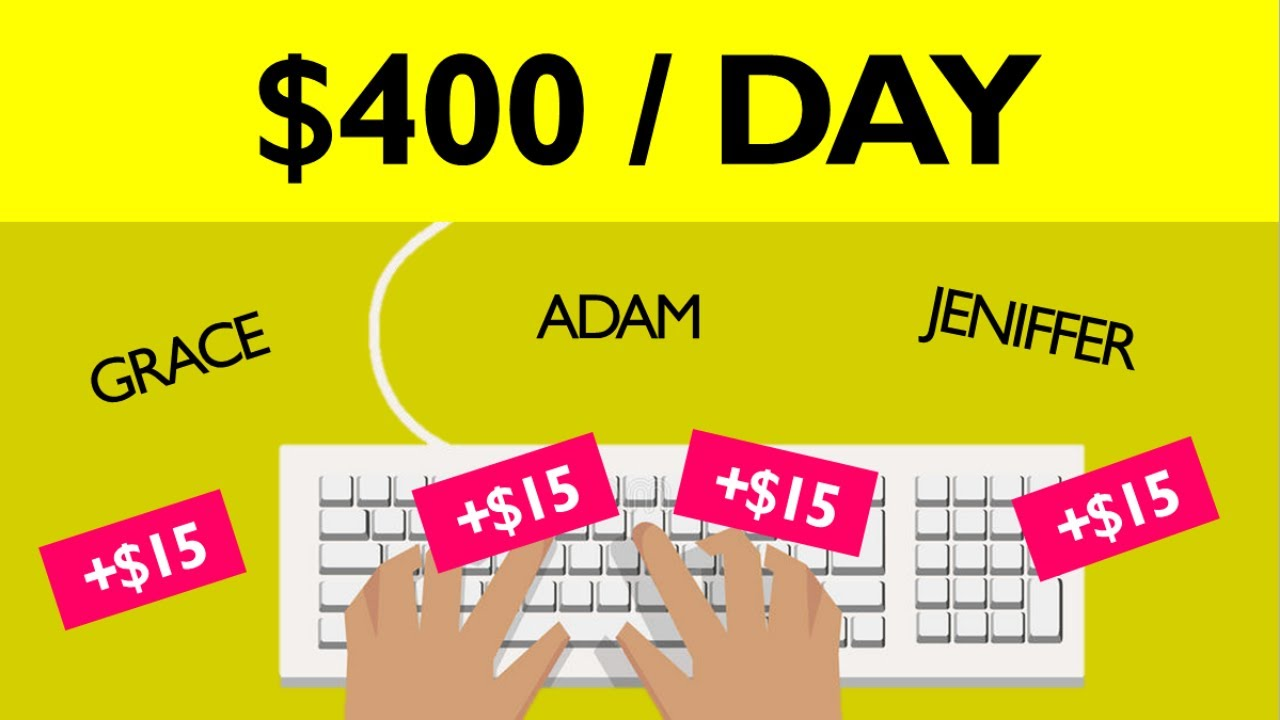 Earn $400+ Typing Names ($15 Per Page) FREE Make Money Online | Branson Tay