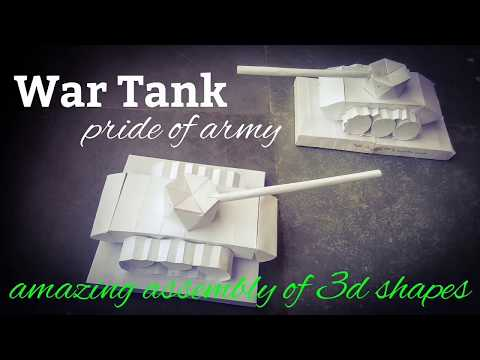 Army war Tank | maths model using 3d shapes | origami