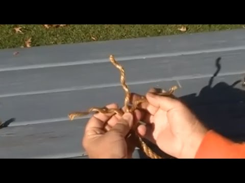How to Tie a Back Splice