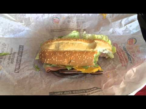 Burger King's YUMBO HOT HAM & CHEESE SANDWICH Review
