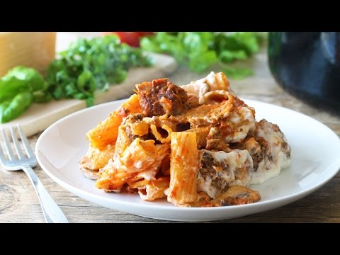 How to Make Baked Ziti with Meatballs and Mushrooms
