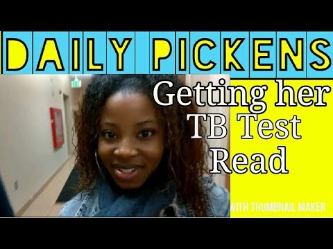 Getting her TB test Read