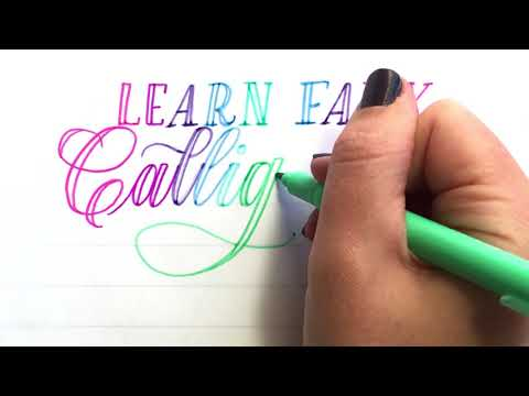 How to Learn Faux Calligraphy!