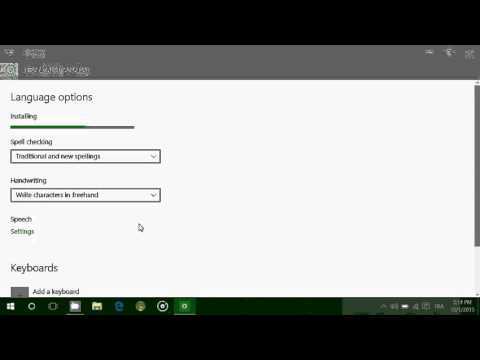 Windows 10 How to change the default language by installing language packs