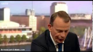 Andrew Marr suffers a panic attack on his show