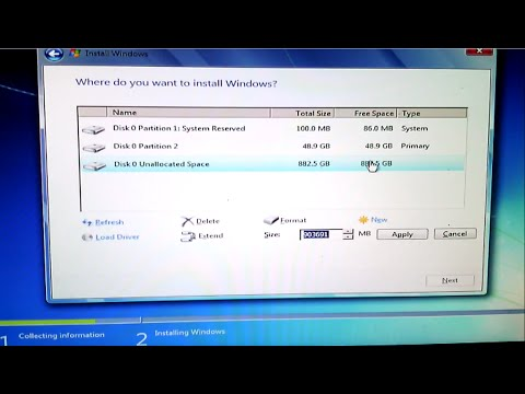 how to hard disk partition in windows 7 setup time 2015