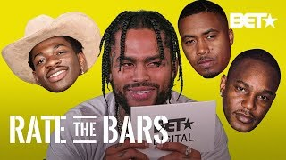 Dave East Tries To Rate Fairly But Still Thinks This Rapper's Bars Seem Silly! | Rate The Bars