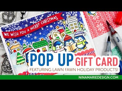 Lawn Fawn Pop Up Holiday Gift Card