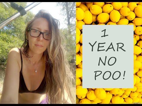 1 Year No Poo Using Lemons With Hard Water