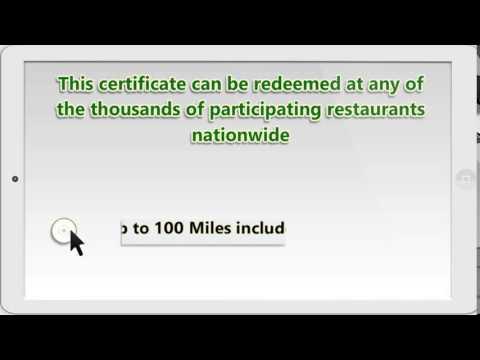 Motor Club of America (MCA) Restaurant Bonus