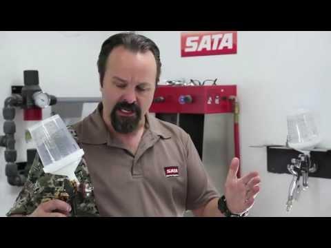 How to Set Air Pressure / Air Volume for a HVLP or RP Spray Gun with SATA