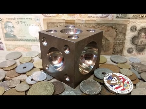 Using a dapping / doming block to make coin rings