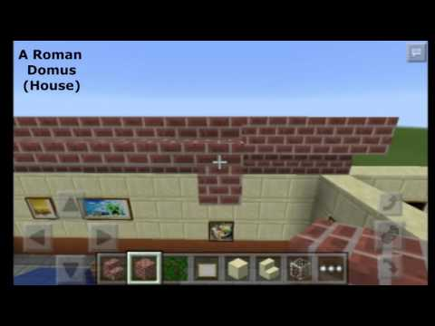 Minecraft how to build A Roman Domus (House)