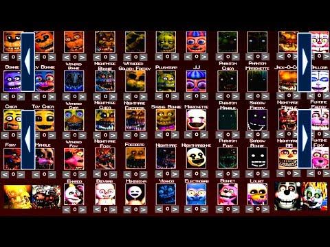 Five Nights at Freddy's 6 All EXTRAS FNAF 1 2 3 4 5 (All Animatronics)  *FNAF 2018*