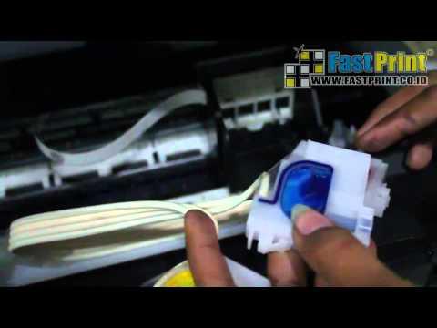 VIDEO TUTORIAL CARA SEDOT CARTRIDGE DAN MEMBERSIHKAN HEAD PRINTER EPSON L210