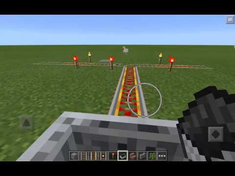 How to use a detector rail in Minecraft PC and PE