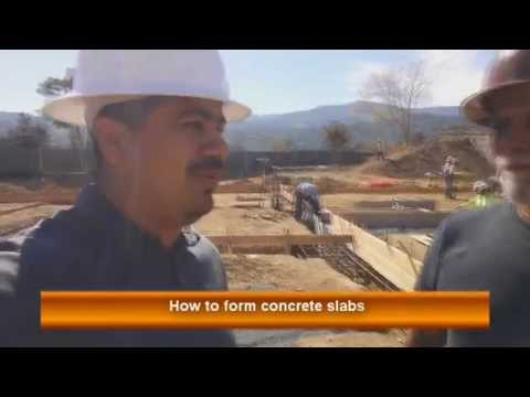 How to Form Concrete Slabs