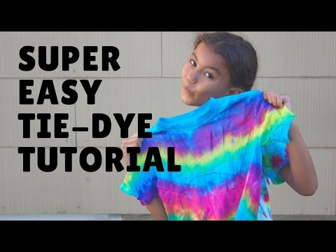 DIY: Easy Tie Dye Shirt Tutorial