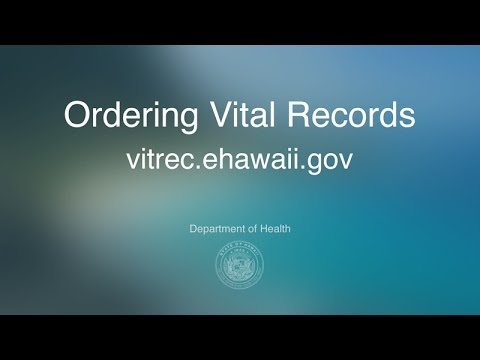 Ordering Vital Records